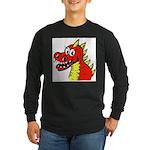 Happy Dragon Long Sleeve Dark T-Shirt