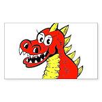 Happy Dragon Rectangle Sticker