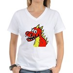 Happy Dragon Women's V-Neck T-Shirt