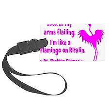 pink, flamingo 1 Luggage Tag