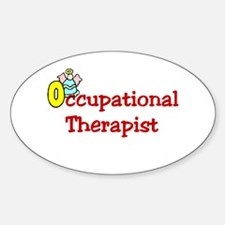 Occupational Therapist Oval Decal