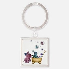 funhippos Square Keychain