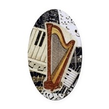 harp-nook-5432 Oval Car Magnet
