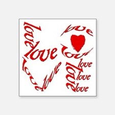"valentines day love Square Sticker 3"" x 3"""