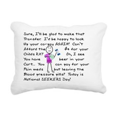 angry pharmacist PINK Rectangular Canvas Pillow