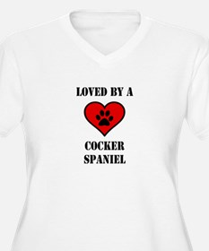 Loved By A Cocker Spaniel Plus Size T-Shirt