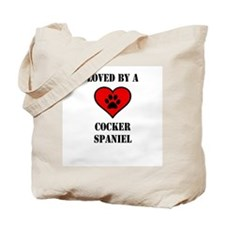 Loved By A Cocker Spaniel Tote Bag