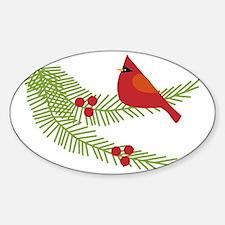 Cardinal Bird on Branch  Decal