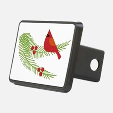 Cardinal Bird on Branch  Hitch Cover