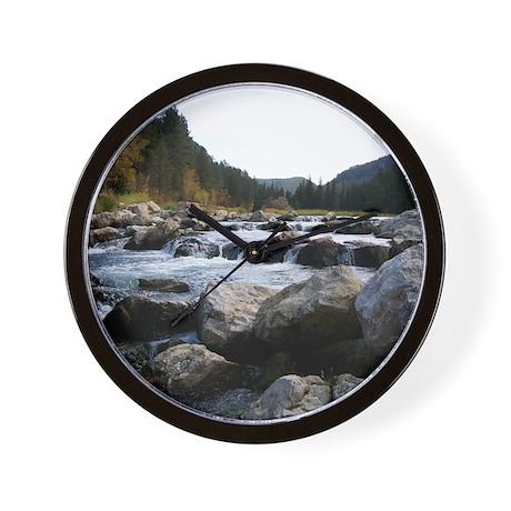Rock Waterfall Wall Clock