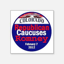 "Romney Colorado Square Sticker 3"" x 3"""
