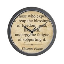 aug11_thomas_paine_quote Wall Clock