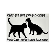 CatsPotatoChips Rectangle Magnet