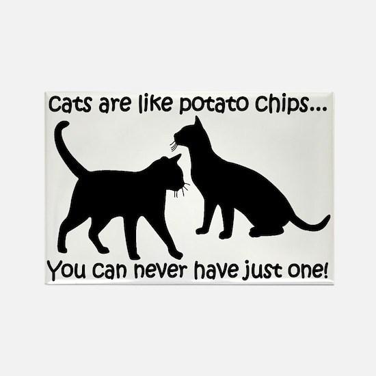 CatsPotatoChips Rectangle Magnet
