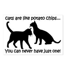 CatsPotatoChips Postcards (Package of 8)