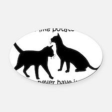CatsPotatoChips Oval Car Magnet