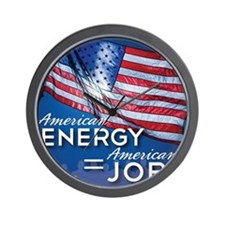 American Energy Mouse Pad Wall Clock