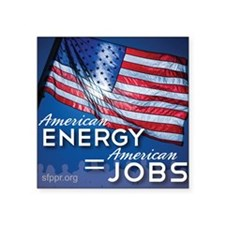 """American Energy Mouse Pad Square Sticker 3"""" x 3"""""""