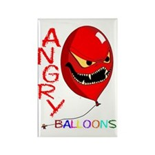 angry ballons red2 copy Rectangle Magnet