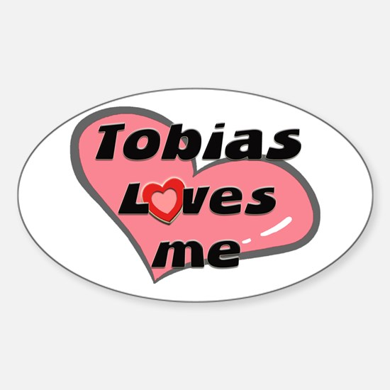tobias loves me Oval Decal