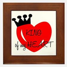 King of my heart Framed Tile