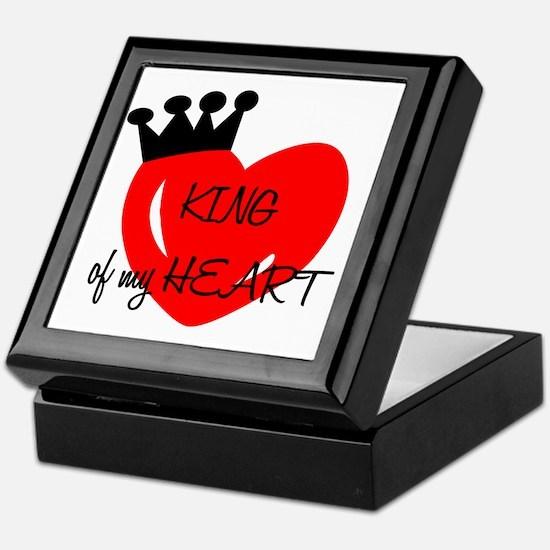 King of my heart Keepsake Box