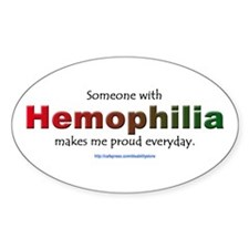 Hemophilia Pride Oval Decal