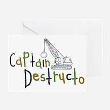 destructo Greeting Card
