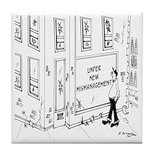 5695_management_cartoon Tile Coaster
