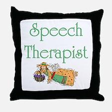 Speech Therapist Throw Pillow