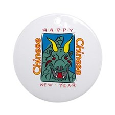 Chinese New Year Dragon Ornament (Round)