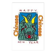 Chinese New Year Dragon Postcards (Package of 8)