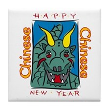 Chinese New Year Dragon Tile Coaster