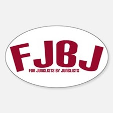 FJBJ Oval Decal