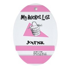 Ladies Bucket List Journal Cover Oval Ornament