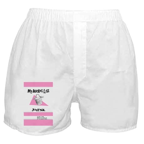 Ladies Bucket List Journal Cover Boxer Shorts