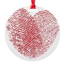 heartfingerprint Ornament