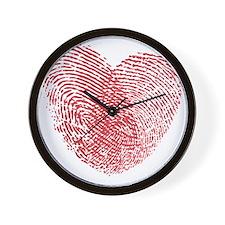 heartfingerprint Wall Clock