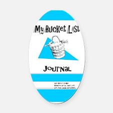 Mens Bucket List Journal Cover Oval Car Magnet