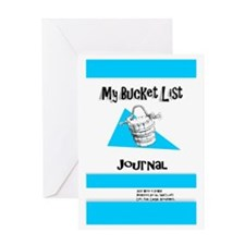 Mens Bucket List Journal Cover Greeting Card