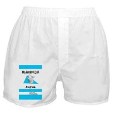 Mens Bucket List Journal Cover Boxer Shorts