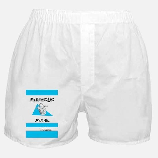 Mens Bucket List Journal Cover Boxer Shorts