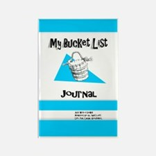 Mens Bucket List Journal Cover Rectangle Magnet
