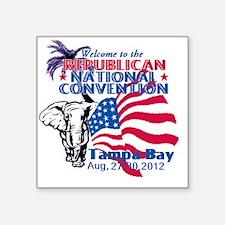 """Republican Convention Square Sticker 3"""" x 3"""""""