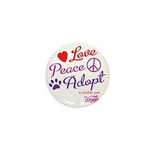 peace love adopt Mini Button