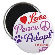 peace love adopt Magnet