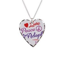 peace love adopt Necklace