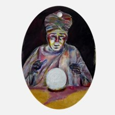 The fortune teller Oval Ornament