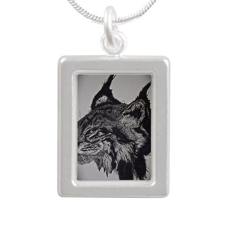 Lynx Silver Portrait Necklace
