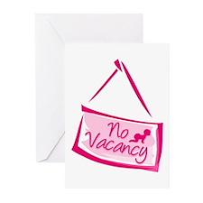 No Vacancy Pink Greeting Cards (Pk of 10)